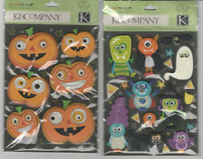 U CHOOSE  K&Company Spooktacular JACK O'LANTERNS MONSTERS 3D Stickers halloween