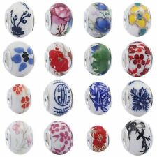 Wholesale 5.5mm Hole Porcelain Ceramics Spacer Beads European For Bracelet DIY