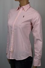 Ralph Lauren Pink Slim Fit Striped Oxford Blouse Shirt Multi Color Pony NWT