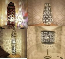 Moroccan Floor Standing Lamp Chrome Exclusive Contemporary Cutwork Design