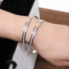 HOT Style Women Stainless Steel Wristband Fashion Infinity Bangle Charm Bracelet