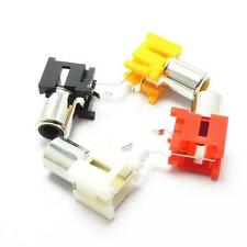 AV Audio Single Female Jack RCA Socket Connector 4-Color Horizontal Solder Type