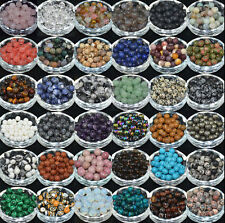 Lots Natural Gemstone Round Spacer Loose Beads 4,6,8,10mm 60 Kinds of Stones