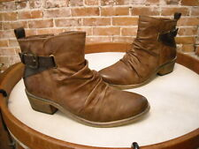 Bare Traps Pennie Brown Buckle Detail Ruched Ankle Boots NEW