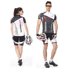Unisex Cycling Bicycle Suits Jersey Top Shirts Cycle Wear+Short Pants Breathable