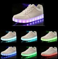 Men Women LED Night Light Couples Light Up Trainer Lace-up Shoes Lovers Sneakers