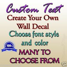 Custom Text Wall Decal Create Your Own Choose Style and Color MM-1000