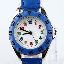 Fashion Student Girl Boy Kids Learn Tell To Time Teacher Quartz Wristwatch U48