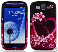 PURPLE LOVE Snap-On Case Hard Cover for Samsung Galaxy S3 SIII