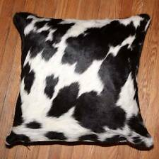 New Cowhide Pillow Cover/Shell Hair On Leather Cushion Cow Hide Western P12