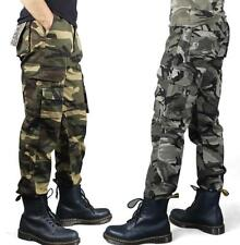 New Mens Military Cargo Pants overall cotton Camo Leisure Trousers size 28-38 #