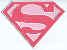 "SUPERGIRL (S Logo) Large 10"" EMBROIDERED BACK PATCH **FREE SHIPPING** dc comics"