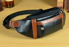 New Men Genuine Leather Messenger Sling Chest Belt Fanny Pack Waist Bag Purse