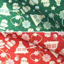 Festive Hats and Mittens Snowflakes Baubles Christmas 100% Cotton Fabric