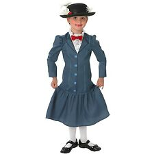 Girls Mary Poppins Disney Halloween Book Week Kids Dress Party Outfit Costume