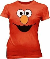 Juniors Television Show Sesame Street Elmo Smiling Face RED T-Shirt Tee