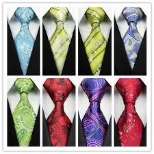Yellow Blue Green Gray Red Black Pink Floral Classic Silk Mens Tie Necktie GL