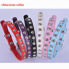 Puppy Dog Collar xs Full Rhinestones Leather Collar For Dogs Small Pet Products