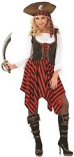 Ladies Sexy Pirate w/ Hat Halloween Fancy Dress Costume Outfit 8-22 Plus Size