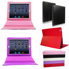 Leather Case Smart Cover Stand Wireless Bluetooth Keyboard for Apple iPad 2 3 4