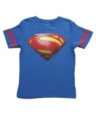 Youth Boys DC Comics Superman Logo with Striped Sleeves Royal Blue T-Shirt Tee
