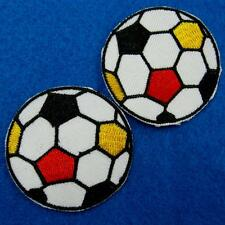 2 Football Iron on Sew Embroidered Patch Badge Applique Sports Biker Motor Cute