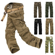 ARMY CARGO CAMO COMBAT MILITARY MENS TROUSERS CAMOUFLAGE PANTS CASUAL UK32-38