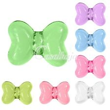 20 Wholesale Acrylic Beads Transparent Jewelry Craft Butterfly Hot 16x12x9mm