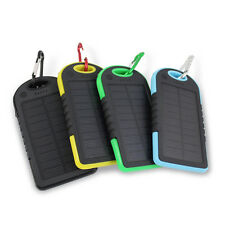 8000mAh Waterproof Solar Panel 2 USB Power Bank Portable Battery Charger Phones