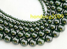 "4/6/8/10/12mm Natural Green Goldstone Round Gems Loose Beads 15"" Choose Size"