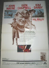 TRUE GRIT / ORIGINAL U.S. ONE-SHEET MOVIE POSTER ( JOHN WAYNE )