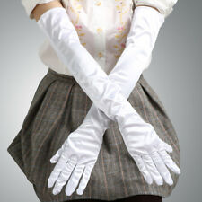 "19"" Long Satin Gloves Opera Wedding Bridal Evening Party Prom Costume Gloves"