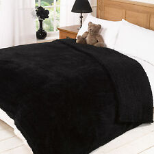Teddy Faux Fur Large Cuddly Soft Luxury Plush Fleece Blanket Bed Sofa Throw Over