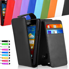 Flip Wallet Leather Skin wallet Case Cover For Samsung Galaxy S2 I9100 + Stylus