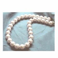 PINK Sea Shell Pearl Necklace Wedding Bridal Bridesmaids Gifts Prom 12mm 14mm