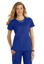 Dickies Medical EDS Signature Scrubs Royal Blue Peek-A-Boo Top Size XS-XXL NWT
