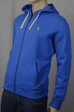 Polo Ralph Lauren Blue Hoodie Full Zip Sweatshirt Yellow Pony NWT