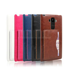 Luxury Leather Case Hard Back Cover Card Slot Stand For LG G Stylo LS770 G4 Note
