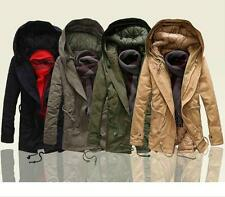 Fashion  Mens Winter Jacket Cotton Blend Warm Thick Long Outwear Parka Coat