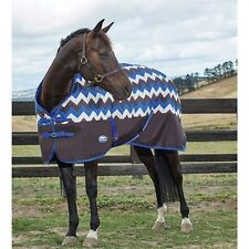 Weatherbeeta 1200D Waterproof Turnout Horse Blanket Sheet Chevron Blue Black