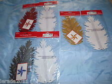 FOIL STAR CHRISTMAS DECORATION 6  DESIGNS GOLD RED WHITE SILVER CREAM PALE BLUE