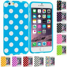 For Apple iPhone 6S PLUS (5.5) TPU Polka Dot Design Rubber Hard Case Cover Skin