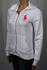 Ralph Lauren White Full Zip Hoodie Sweatshirt Big Pony NWT
