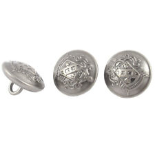 3 Pcs Metal Round Sewing Craft Clothes Clothing Buttons
