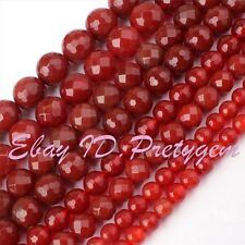 """Round Agate Onyx Faceted Gemstone Beads Strand 15"""" 6,8,10mm For Jewelry Making"""