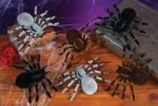 "5.5"" FLOCKED SPIDERS 2 Pack Two Large Creepy SPIDERS 3 Colors to choose from"