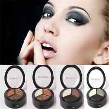 Hot Beauty 3 Colors Natural Smoky Cosmetic Eye Shadow Palette Make Up Tool FT67