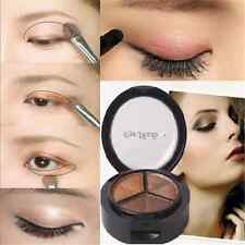 Charm Beauty 3 Colors Natural Smoky Cosmetic Eye Shadow Palette Make Up Tool FT6