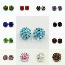 5pcs Round Pave Disco Ball Beads Polymer Clay Grade A Rhinestone Beads 10mm