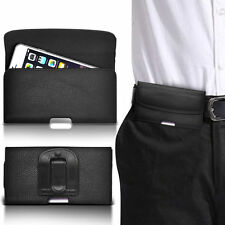 PU Leather Horizontal  Belt Clip Pouch Case For Motorola Backflip